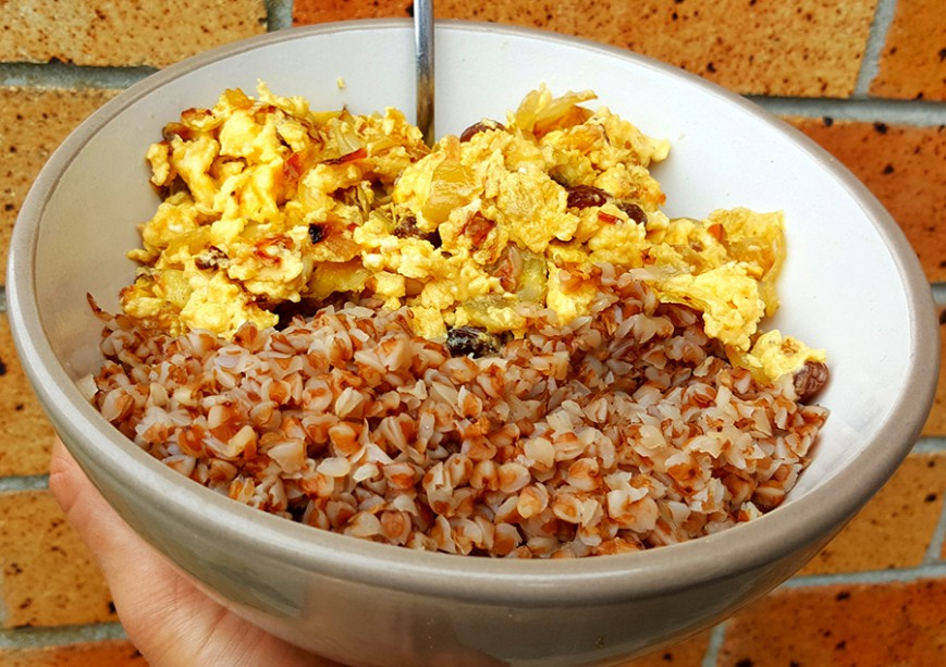 buckwheat scrambled eggs