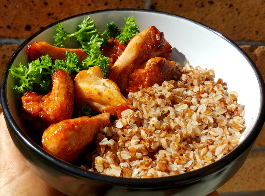 roasted buckwheat with chicken