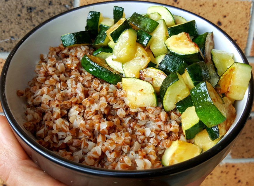 roasted buckwheat with zucchini