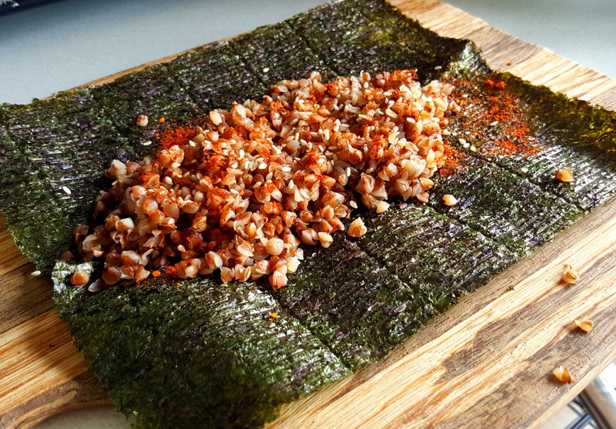 sushi out of kasha roasted buckwheat